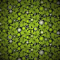 fundo verde padrão floral vetor