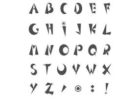 Pacote de vetor alfabeto funky