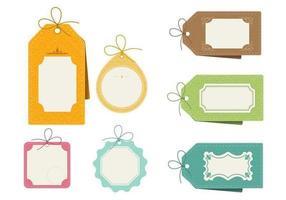 Pacote de vetores de etiquetas com padrões retro