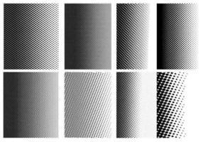 Pacote de vetor de padrões de meio-tom