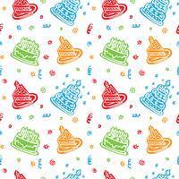 colorido feliz aniversário padrão de fundo vetor