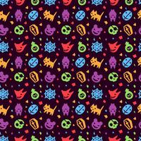 fundo de padrão bonito hallowen vetor