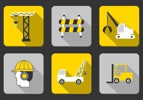 Pacote de vetor de ícone de construção