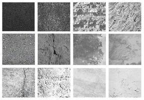 Pacote de vetores de textura de pedra cinza