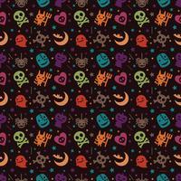 fundo de padrão bonito hallowen