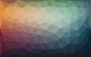 Abstrato colorido poli baixo fundo Vector com gradiente quente