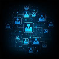 Rede de sistemas de comunicação. vetor