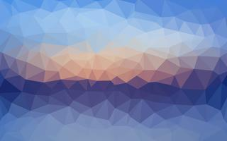 Light blue vector Fundo de cristal de baixo poli. Projeto do polígono pa