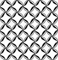 Padrão sem emenda de vetor. Preto e branco Repetindo o padrão geométrico vetor