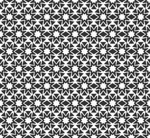Padrão sem emenda geométrico abstrato. Repetindo a textura preto e branco geométrica. vetor