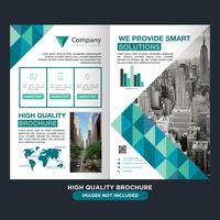 Folheto de dobra de negócios geométricos vetor