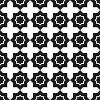 Padrão sem emenda de vetor. Preto e branco Repetindo o padrão quadrado geométrico vetor
