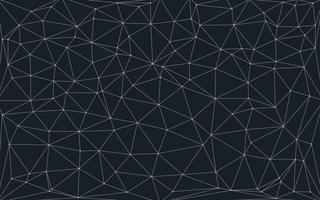 fundo baixo poli com pontos e linhas de conexão vetor