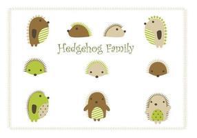 Pacote familiar de família de desenhos animados Hedgehog