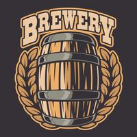 Vetorial, ilustração, de, um, barril cerveja