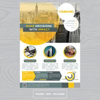 Folheto colorido Design de brochura comercial vetor