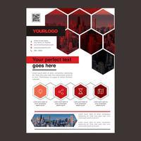 Design de brochura de negócios vermelho vetor
