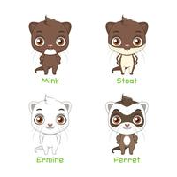 Conjunto de espécies de polecat