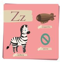 Alfabeto colorido para crianças - letra Z