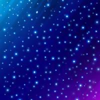 O espaço científico do universo abstrato na obscuridade - fundo azul com incandescência do círculo do meteoro.