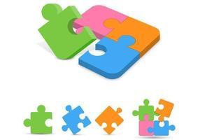 Pacote de vetor de peças de quebra-cabeça