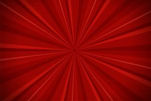 Fundo cômico abstrato vermelho da luz solar dos desenhos animados. Projeto de ilustração vetorial.