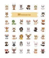 38 ilustração animal colorido vetor