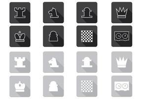 Pacote de ícones vetoriais de xadrez
