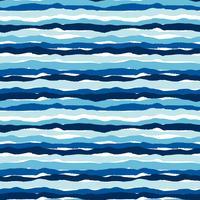 Padrão sem emenda de vetor mar com texturas de mão desenhada. Design abstrato moderno