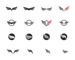 Vetor de modelo de logotipo de falcão de asa