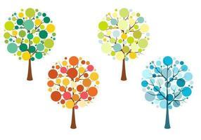 Pacote de vetores de árvores sazonais