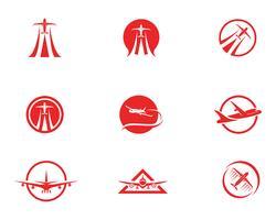 Projeto de ilustração de vetor de ícone de avião