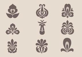Pacote de vetores de ornamento floral