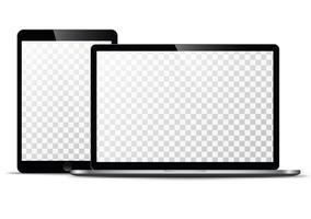 Modelo de vetor eletrônico Tecnologia moderna, smartphones, tablets, computadores e notebooks