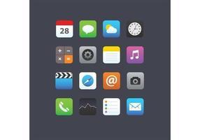 Ícones da aplicação Smartphone vetor