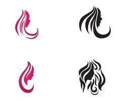 Modelos de vetor de logotipo de salão de cabelo e rosto