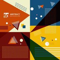 Fundo geométrico colorido abstrato do estilo do teste padrão.