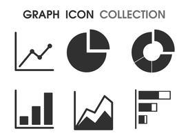 Ícones do gráfico de várias maneiras que parece simples e moderno vetor
