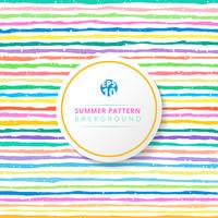 Teste padrão listrado do verão colorido no fundo branco. vetor