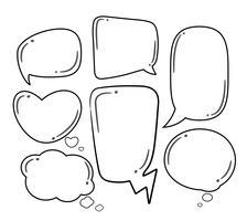 Bolhas do discurso em quadrinhos sobre fundo transparente de meio-tom. vetor