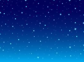 Céu azul da noite abstrata com fundo do cosmos das estrelas. vetor
