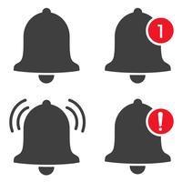 Ícone de notificação vetorial quando as mensagens recebidas enviarem um som e exibirem um alerta. vetor