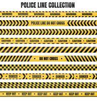 Fita policial amarela e preta Para aviso de áreas perigosas vetor