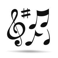 ícone de nota de música. vector design ilustração.