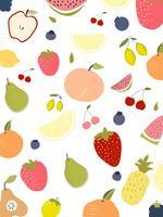 Coquetéis de verão cor de vetor. A palma da bandeira da fruta do verão deixa a imagem do vetor dos pássaros.