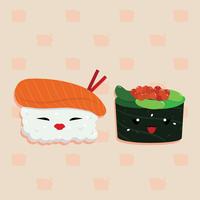 Vetor de desenhos animados de sushi