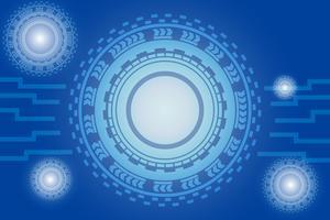 conceito de comunicação digital para o fundo de tecnologia vetor