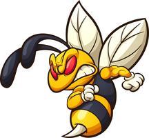 Mascote do zangão com raiva vetor