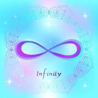 Sinal sagrado. O sinal do infinito. Energia espiritual. Medicina alternativa. Esotérico. Vetor.
