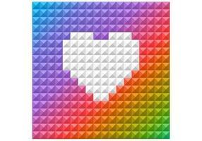 Fundo brilhante do vetor do coração do arco-íris